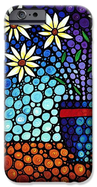 Purple Prints iPhone Cases - You Cant Hide Beautiful iPhone Case by Sharon Cummings