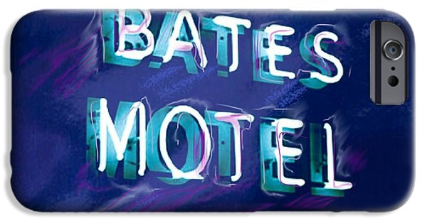 Bates iPhone Cases - You Check in But You Dont Check out iPhone Case by Russell Pierce