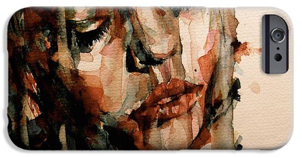 Mood Paintings iPhone Cases - You Ditch It All To Stay Alive A Thousand Kisses Deep iPhone Case by Paul Lovering