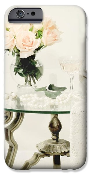 White Cloth iPhone Cases - You Dont Bring Me Flowers iPhone Case by Diana Angstadt