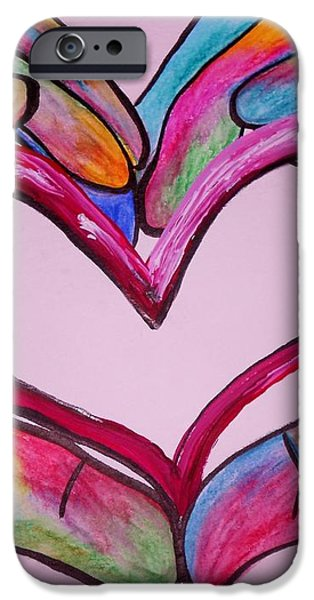 You Hold My Heart in Your Hands iPhone Case by Eloise Schneider