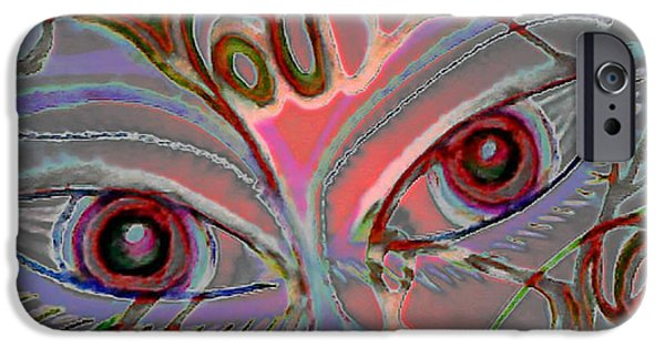 Floral Digital Art Digital Art Pastels iPhone Cases - You Hurt Me iPhone Case by Gina Seymour