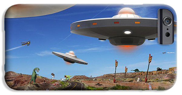 Ufo iPhone Cases - You Never Know . . . 5 iPhone Case by Mike McGlothlen
