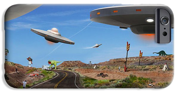 Spacecraft iPhone Cases - You Never Know . . . Panoramic iPhone Case by Mike McGlothlen