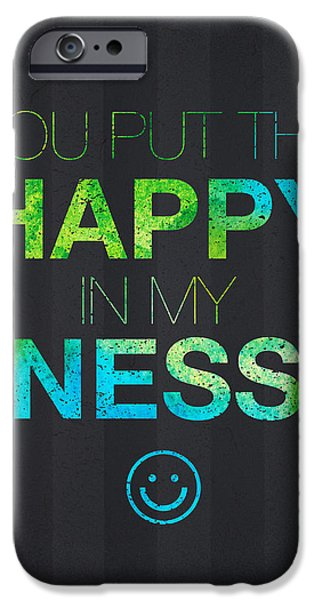 Pleasure Digital Art iPhone Cases - You Put the Happy in My Ness iPhone Case by Aged Pixel