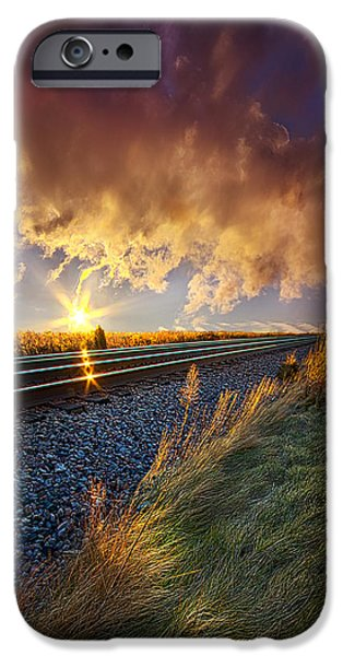 Crops iPhone Cases - You Will Never Walk Alone iPhone Case by Phil Koch
