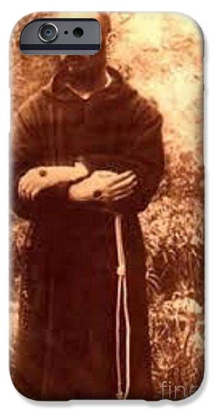 Etc... iPhone Cases - Youg Padre Pio iPhone Case by Matteo TOTARO