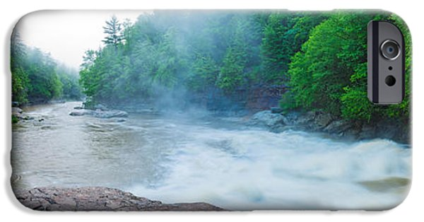Swallows iPhone Cases - Youghiogheny River A Wild And Scenic iPhone Case by Panoramic Images