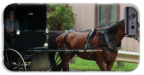 Amish Community iPhone Cases - Young Amish Courtship Couple iPhone Case by R A W M