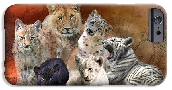 The Tiger iPhone Cases - Young And Wild iPhone Case by Carol Cavalaris