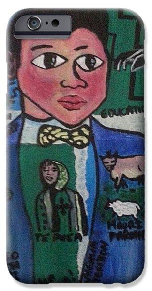 Etc. Paintings iPhone Cases - Young Apirana Ngata iPhone Case by Hori Kiwara