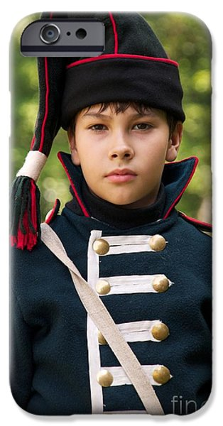 Historical Re-enactments iPhone Cases - Young arilleryman iPhone Case by Aleksey Tugolukov