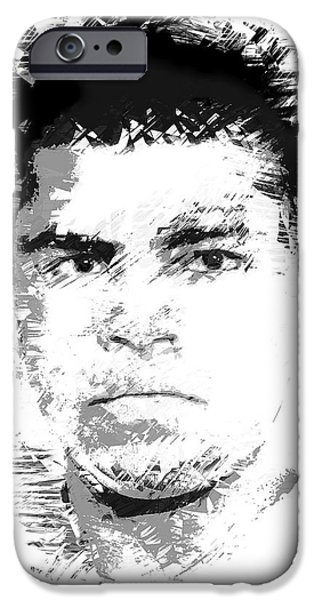 Heavyweight Digital Art iPhone Cases - Young Cassius Clay iPhone Case by Daniel Hagerman