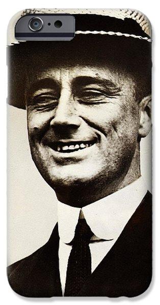 Franklin Roosevelt iPhone Cases - Young Franklin  Roosevelt iPhone Case by Bill Cannon