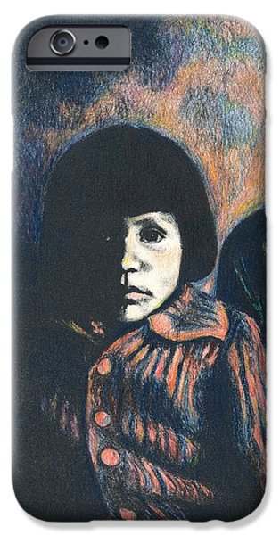 Young Girl iPhone Case by Kendall Kessler