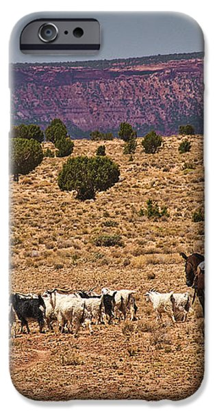 Young Goat Herders iPhone Case by Priscilla Burgers
