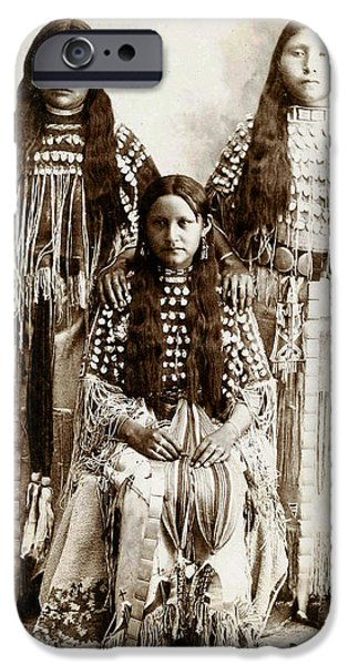 Young Kiowa Belles 1898 iPhone Case by Unknown