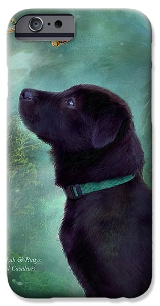 Young Lab And Buttys iPhone Case by Carol Cavalaris
