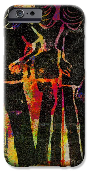 Printmaking iPhone Cases - Young Men iPhone Case by Angela L Walker