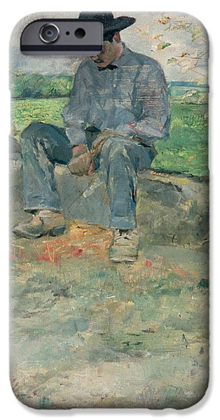 Young Routy at Celeyran iPhone Case by Henri de Toulouse-Lautrec