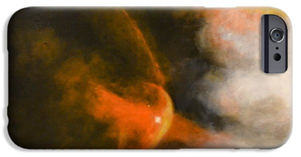 Intergalactic Space Paintings iPhone Cases - Young Star Bow Shock near L.L. Ori iPhone Case by Jim Ellis