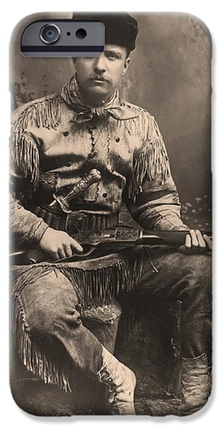 Antiques iPhone Cases - Young Teddy Roosevelt iPhone Case by Gary Grayson