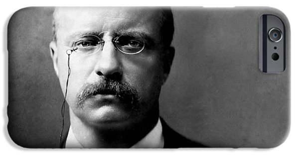 Young Digital Art iPhone Cases - Young Theodore Roosevelt iPhone Case by Bill Cannon