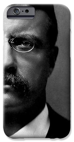 Young Theodore Roosevelt iPhone Case by Bill Cannon