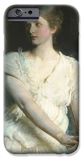 Abbott Handerson Thayer iPhone Cases - Young Woman iPhone Case by Celestial Images