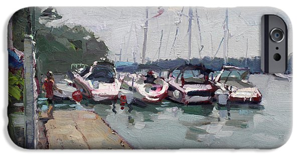Village iPhone Cases - Youngstown Yachts iPhone Case by Ylli Haruni
