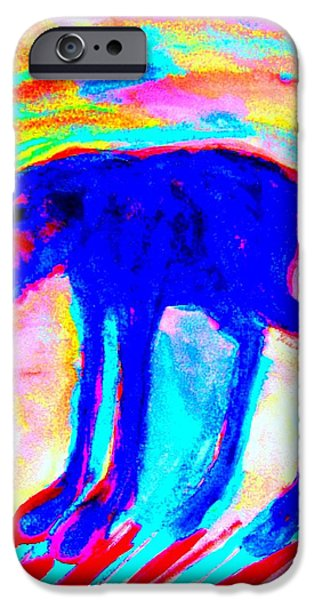Biological Paintings iPhone Cases - Your Inner Dog iPhone Case by Hilde Widerberg