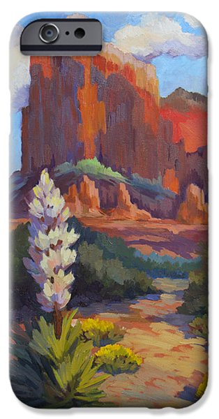 Sedona iPhone Cases - Yucca at Sedona iPhone Case by Diane McClary