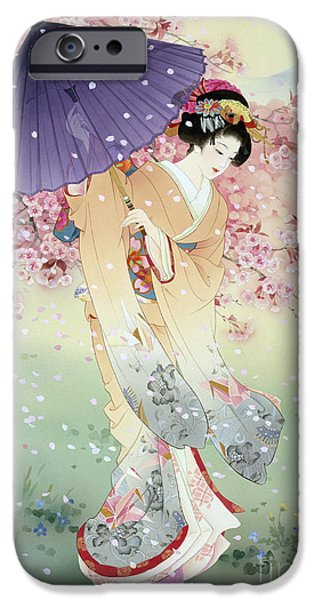 Culture iPhone Cases - Yumezakura iPhone Case by Haruyo Morita