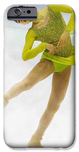 Kim Digital Art iPhone Cases - Yuna Kim of Rebublic of Korea iPhone Case by Don Kuing