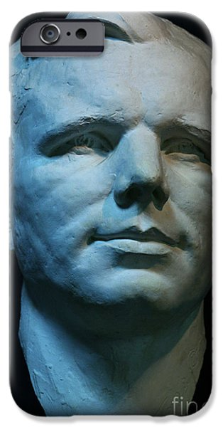 Statue Portrait iPhone Cases - Yuri Gagarin iPhone Case by Babak Tafreshi