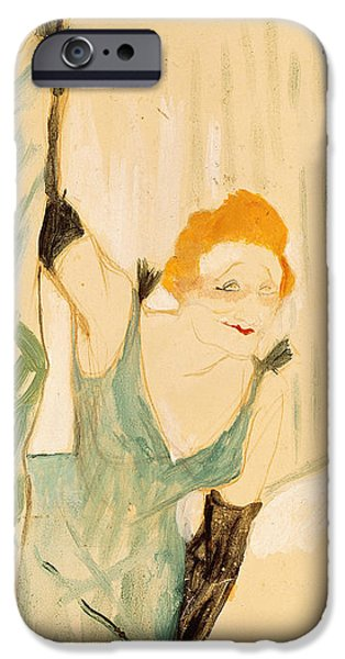 Theatre iPhone Cases - Yvette Guilbert 1867-1944 Taking A Curtain Call, 1894 Gouache On Paper iPhone Case by Henri de Toulouse-Lautrec