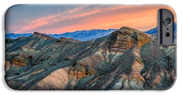 Texture iPhone Cases - Zabriskie Dawn In Another Direction iPhone Case by Duane Miller