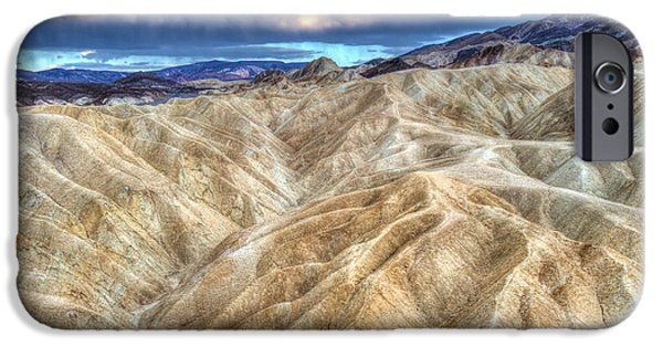 The Best Sunset iPhone Cases - Zabriskie Mountains in Death Valley iPhone Case by Pierre Leclerc Photography