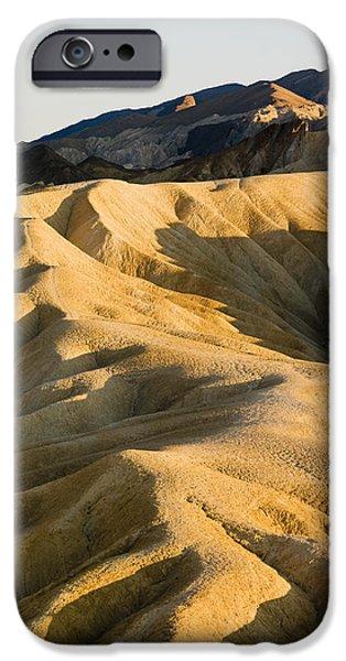 Nation iPhone Cases - Zabriskie Point In Death Valley iPhone Case by Richard Desmarais