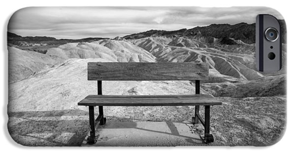 Bench iPhone Cases - Zabriskies Bench iPhone Case by Peter Tellone