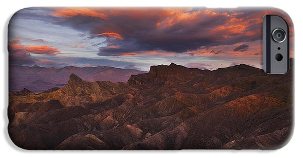 Peter Coskun iPhone Cases - Zabriskies Fireworks iPhone Case by Peter Coskun