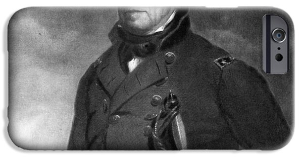 White House Paintings iPhone Cases - Zachary Taylor iPhone Case by Eliphalet Frazer Andrews