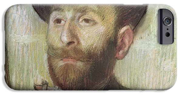 Close Up Drawings iPhone Cases - Zachary Zakarian iPhone Case by Edgar Degas