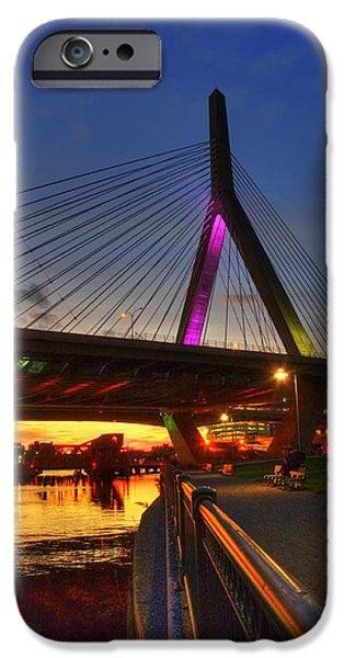 Boston Ma iPhone Cases - Zakim Bridge 5 - Boston iPhone Case by Joann Vitali