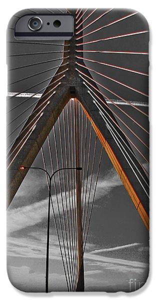 Charles River iPhone Cases - Zakim Bridge - Boston iPhone Case by Claudia Mottram