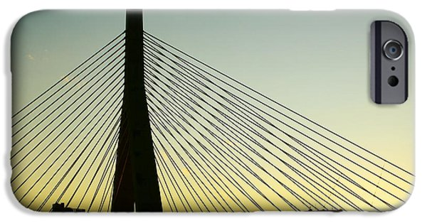 Recently Sold -  - City. Boston iPhone Cases - Zakim Bridge Silhouette iPhone Case by Nikolyn McDonald