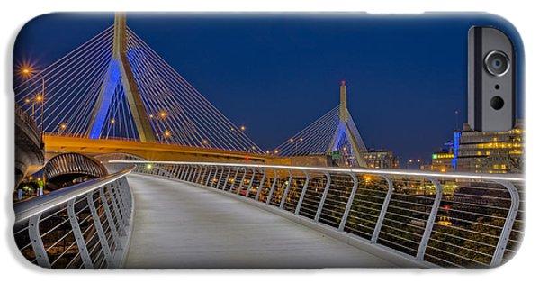 Boston iPhone Cases - Zakim Bridge iPhone Case by Susan Candelario