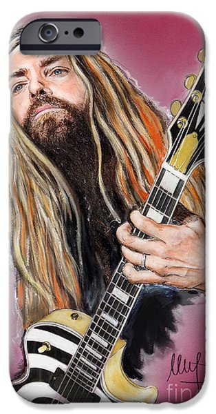 Piano iPhone Cases - Zakk Wylde iPhone Case by Melanie D