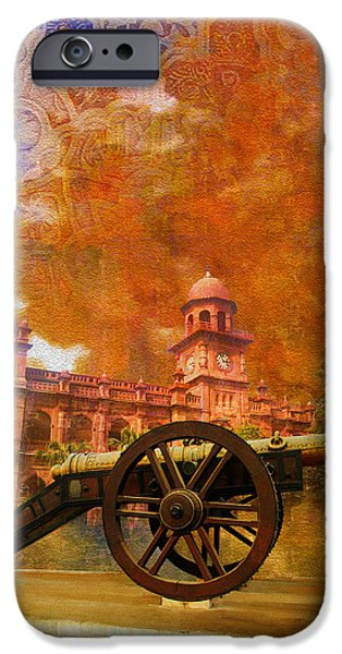 Pakistan iPhone Cases - Zamzama Tope or Kims Gun iPhone Case by Catf