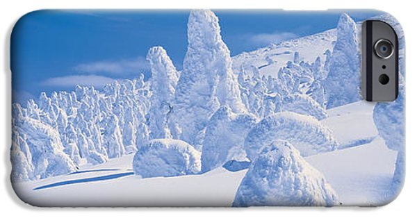 Snow Drifts Photographs iPhone Cases - Zao Yamagata Japan iPhone Case by Panoramic Images